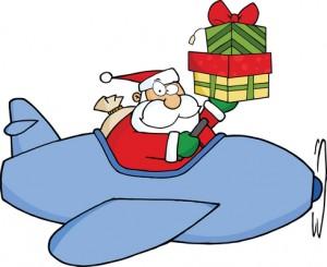 santa flies into south walton