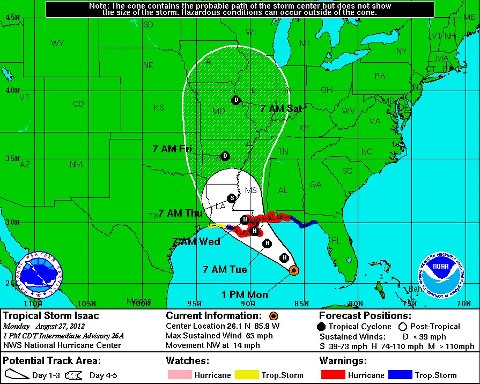 Tropical Storm Isaac Update